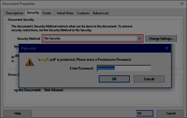 decrypt a locked PDF file