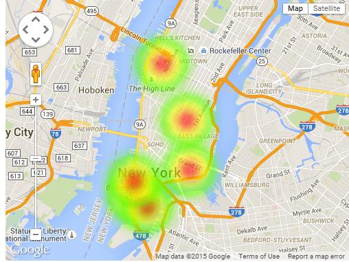 Google Heatmaps