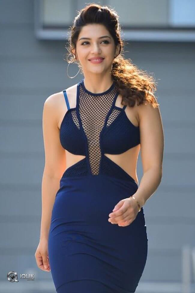 Mehreen Pirzada in blue dress