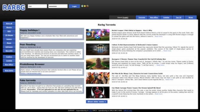 RARBG Torrent Sites (Unblocked)