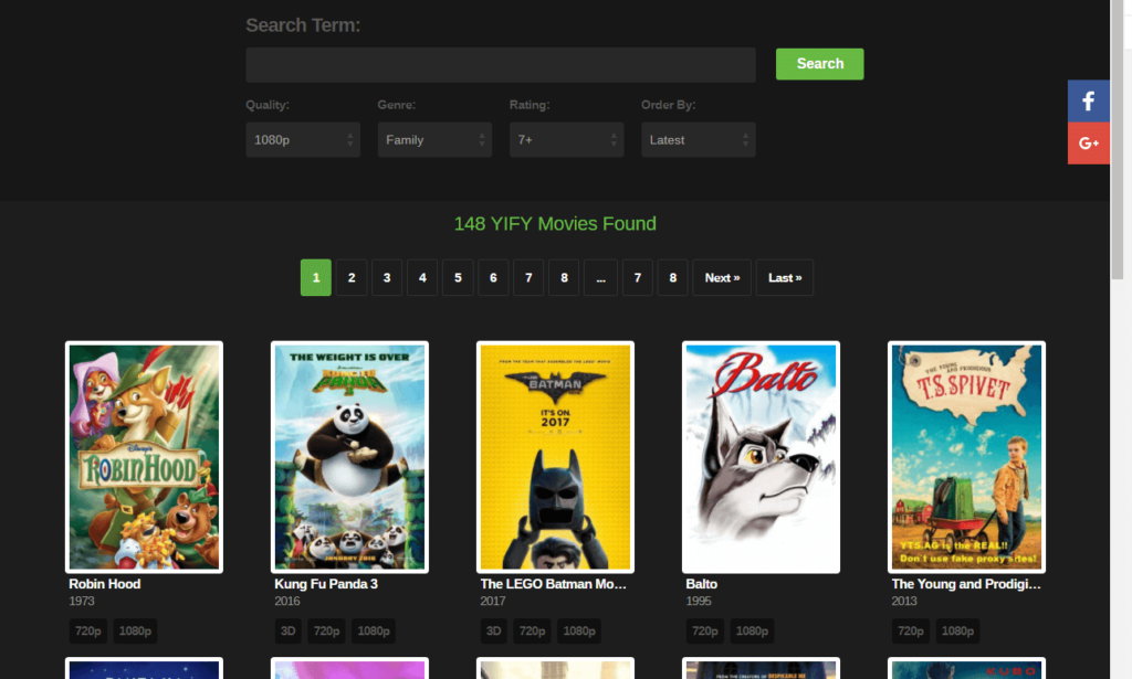 YIFY/TS Official Movies sites