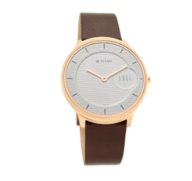 The Classic Silver Dail And A Leather Strap